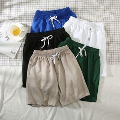 Wewewow(ウィウィワオ) - Plain Drawstring Shorts