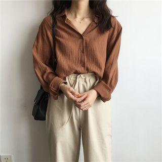 Karnel - Crinkled Long-Sleeve Shirt
