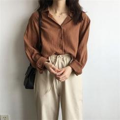 Karnel - Langärmliges Knitter-Shirt