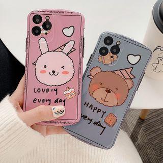 Aion - 韩风小兔11Pro/Max苹果X/XS/XR适用手机壳iPhone7p/8plus个性男女