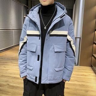 Andrei - 條紋連帽拉鏈夾克