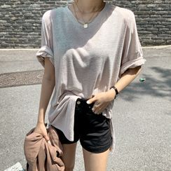 DEEPNY - Drop-Shoulder Hemp-Blend T-Shirt
