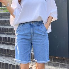 PIPPIN - Cuffed-Hem Denim Shorts