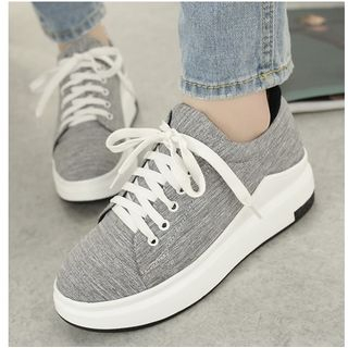 Freesia - Fabric Contrast Athletic Sneakers