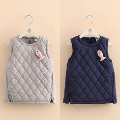 Seashells Kids - Kids Quilted Padded Vest Dress