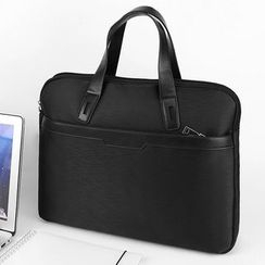 Pagala - Plain Canvas Laptop Briefcase