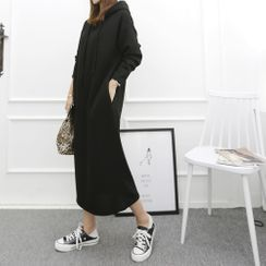 DANI LOVE - Hooded Long Pullover Dress
