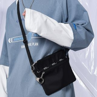 SUNMAN - Lettering Lightweight Crossbody Bag