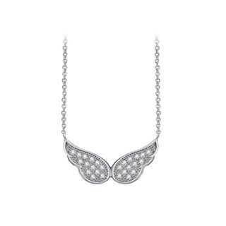 BELEC - Fashion and Elegant Angel Wing Cubic Zirconia Necklace