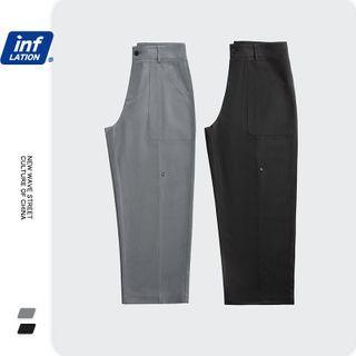 Newin - 纯色直筒西裤