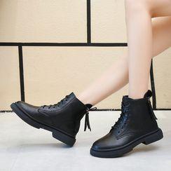 Aneka - Lace-Up Short Boots
