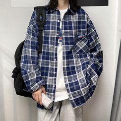 Lazi Boi - Long-Sleeve Plaid Shirt
