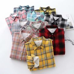 Kawaii Fairyland - Gingham Fleece-Lined Shirt