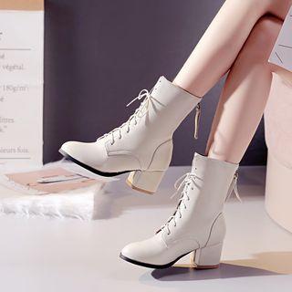 Kireina - 尖头系带粗跟短靴