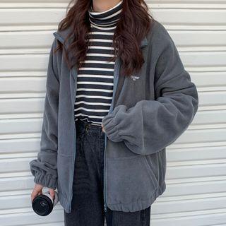 Juku Girls - 抓毛拉鏈夾克