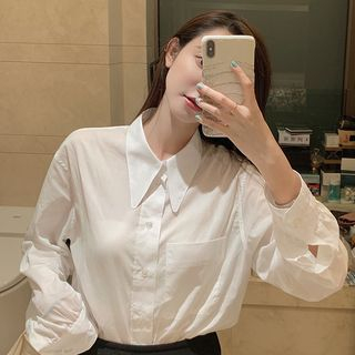 Robynn - Plain Long-Sleeve Shirt