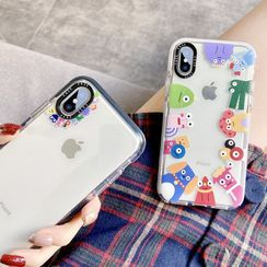 Casei Colour - 怪獸印花手機保護套 - iPhone XS Max, X/XS, XR
