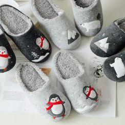 BEANS - 北极熊 / 企鹅抓毛内衬家居拖鞋