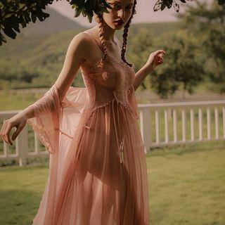 Ladies Night - Lingerie Lace Chemise / Robe