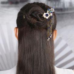 Gangnam - Retro Shell Flower Hair Stick