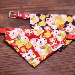 Meow Six - Printed Neckerchief Pet Collar