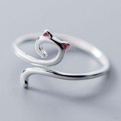 A'ROCH - 925纯银小猫开口戒指