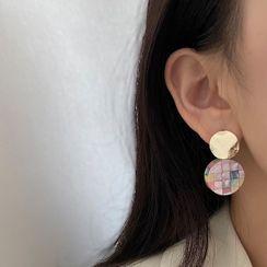 Kinkoza - Disc Shell Alloy Dangle Earring