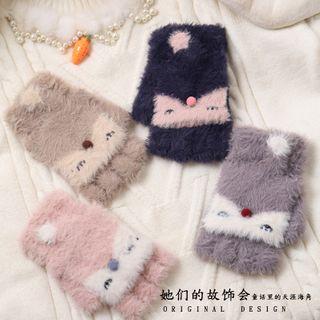 AOI - Chenille Animal Fingerless Gloves
