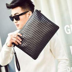 SUNMAN - Faux-Leather Clutch Bag