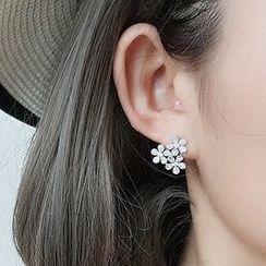 Jiniro - 925 Sterling Silver Flower Earring