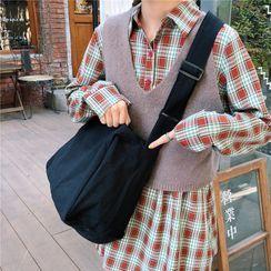 Shinshine - Canvas Crossbody Tote Bag