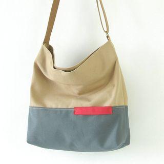 Comedear(カムディア) - Two-Tone Canvas Crossbody Bag