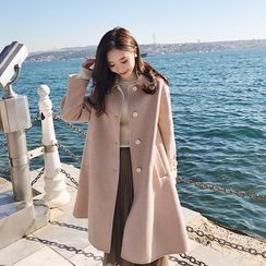 sunny Z - Collared Single-Breasted Coat
