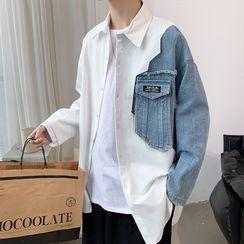 Acrius - Long-Sleeve Paneled Shirt