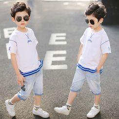 Cherry Pie - Kids Short-Sleeve Paneled T-Shirt