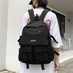 SUNMAN - Lettering Paneled Crossbody Bag