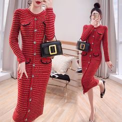 Rosewind - 针织长袖塑身连衣中裙