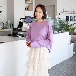 Seoul Fashion - Colored Loose-Fit Sweater