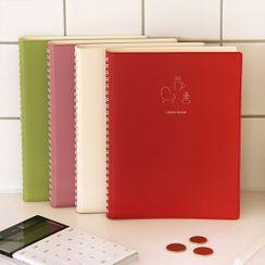 iswas - 'Indigo'' Series Updated Spring Monthly Cash Book Medium Notebook