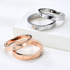 Andante - Couple Matching Lettering Ring