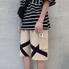 Ferdan - Color Block Cargo Shorts