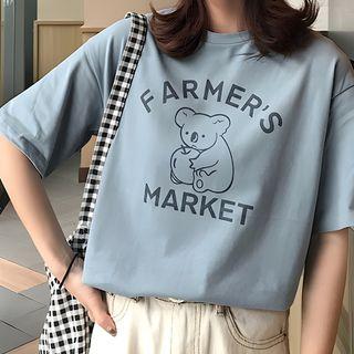 Jewie - Koala Print Short-Sleeve T-Shirt