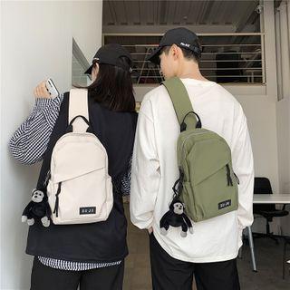 Mulgam - Lettering Zipped Canvas Sling Bag
