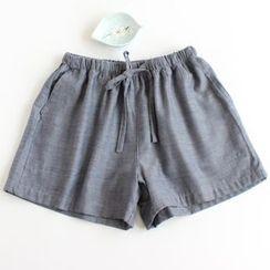 Dogini - Drawstring Pajama Shorts