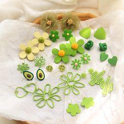 HayHill - 绿色耳环 / 夹式耳环 (多款设计)