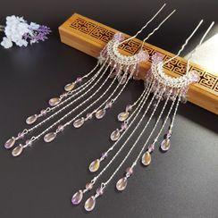 YUGO - Traditional Chinese Fringe Hair Stick / Set