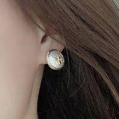 Viltra - Alloy Bee Faux Pearl Earring