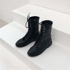 MONOBARBI - Toe-Cap Lace-Up Boots