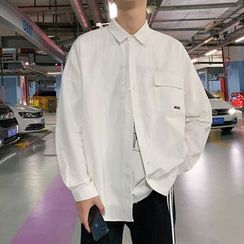 Phoneus - Long-Sleeve Embroidered Letter Shirt