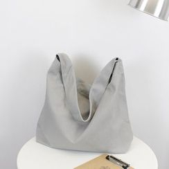 Ms Bean - Plain Canvas Shoulder Bag